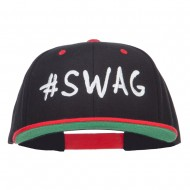 Swag Embroidered Two Tone Snapback - Black Red