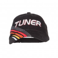 Tuner Embroidered Deluxe Cotton Cap - Black