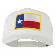 Texas State High Profile Patch Cap - White