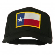 Texas State High Profile Patch Cap - Black