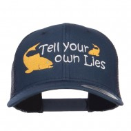 Tell Your Own Lies Embroidered Mesh Cap - Navy