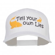 Tell Your Own Lies Embroidered Mesh Cap - White