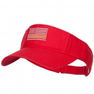 Thin Yellow Line American Flag Embroidered Visor - Red