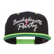 Bachelorette Party Embroidered Two Tone Snapback - Black Neon Yellow
