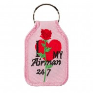 U.S. Air Force Embroidered Key Chains - Pink