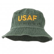 US Air Force Embroidered Pigment Dyed Bucket Hat - Green