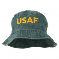 US Air Force Embroidered Pigment Dyed Bucket Hat - Navy