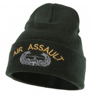 Air Assault Embroidered Long Beanie - Olive