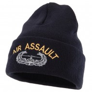 Air Assault Embroidered Long Beanie - Navy