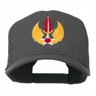 USAF In Europe Military Badge Embroidered Cap - Charcoal