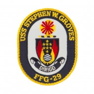USS FFG Twisted Rope Military Patches - Stephen