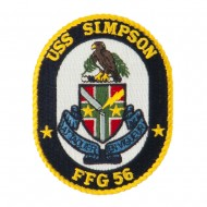 USS FFG Twisted Rope Military Patches - Simpson