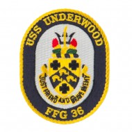 USS FFG Twisted Rope Military Patches - Underwood