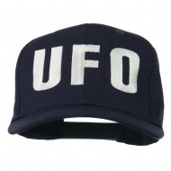 UFO Embroidered Solid Cotton Twill Cap - Navy