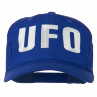 UFO Embroidered Solid Cotton Twill Cap - Royal