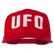 UFO Embroidered Solid Cotton Twill Cap - Red