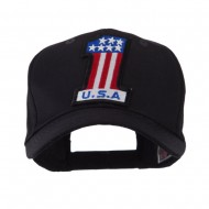 USA Flag Style Military Patch Cap - One USA