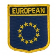 Asia and Australia Flag Embroidered Patch Shield - European