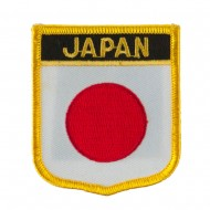 Asia and Australia Flag Embroidered Patch Shield - Japan