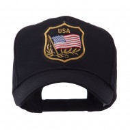 USA Flag Style Military Patch Cap - Tree