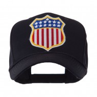 USA Flag Style Military Patch Cap - Shield