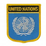 Asia and Australia Flag Embroidered Patch Shield - United Nation