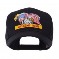 USA Flag Style Military Patch Cap - Welcome Home 2