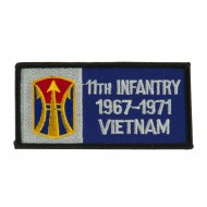 US Army Infantry Embroidered Military Patch - 11th Inf