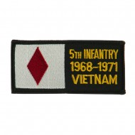 US Army Infantry Embroidered Military Patch - 5th Div