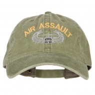Air Assault Embroidered Washed Cotton Twill Cap - Olive