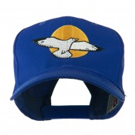 Seagull with Sun Embroidered Cap - Royal