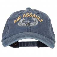 Air Assault Embroidered Washed Cotton Twill Cap - Navy