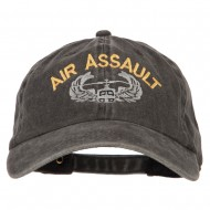 Air Assault Embroidered Washed Cotton Twill Cap - Black