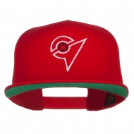 Unova League Poke Monster Embroidered Snapback Cap - Red