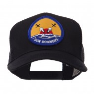US Navy Military Patched Mesh Cap - Sun