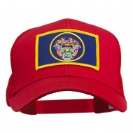 Utah State Flag Patched Mesh Cap - Red
