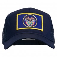 Utah State Flag Patched Mesh Cap - Navy