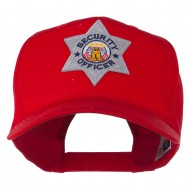 USA Security Officer Patched High Profile Cap - Red
