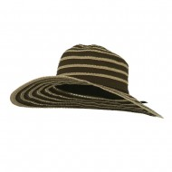 UPF 40+ Toast Striped Crushable Hat - Brown