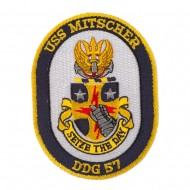 USS Twisted Rope Patches - USS Mitscher
