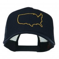 United States Embroidered Trucker Cap - Navy
