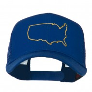 United States Embroidered Trucker Cap - Royal