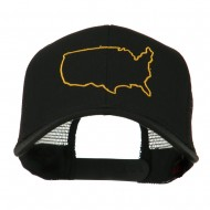 United States Embroidered Trucker Cap - Black