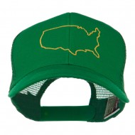United States Embroidered Trucker Cap - Kelly