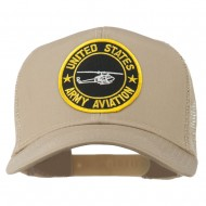 US Army Aviation Patched Mesh Cap - Khaki