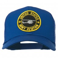 US Army Aviation Patched Mesh Cap - Royal