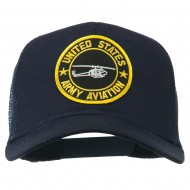 US Army Aviation Patched Mesh Cap - Navy