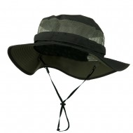 Big Size Taslon UV Bucket Hat - Charcoal
