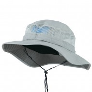 Big Size Taslon UV Bucket Hat - Grey