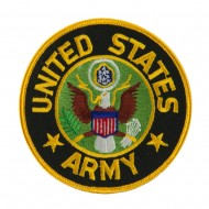 US Army Military Large Patch - Yellow US